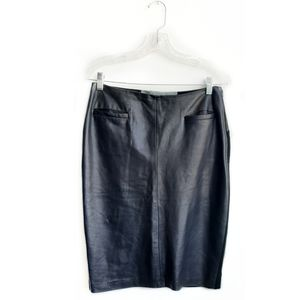 RAQUEL ALLEGRA Leather Pencil Skirt Size 1 /Small
